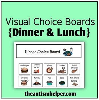Visual Choice Board {Lunch & Dinner}