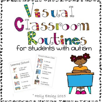 Visual Classroom Routines for Students with Autism