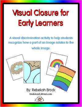 Visual Closure for Early Learners: Recognizing Part to Whole