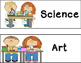 Visual Subjects Day Schedule