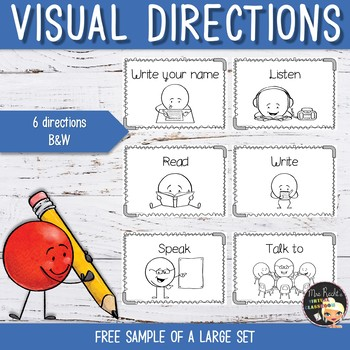 Visual Directions Flashcards - Free sample