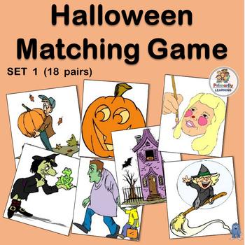 Visual Discrimination ~ Halloween Match-up (Set 1)