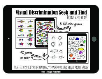 Visual Discrimination Seek and Find