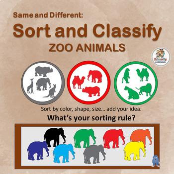 Visual Discrimination ~ Sort and Classify Zoo Animals | Pr