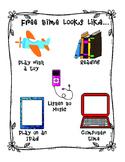Visual Free Time Chart