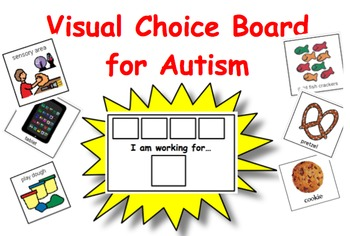 "Visual ""I Am Working For"" Choice Board for Autism"