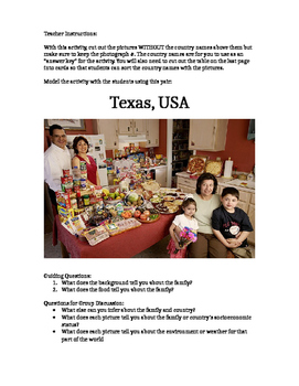Visual Inference Practice - What Families Eat Set #1 (Cent