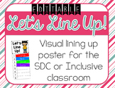 Visual Lining Up Classroom Poster for the SDC or Inclusive