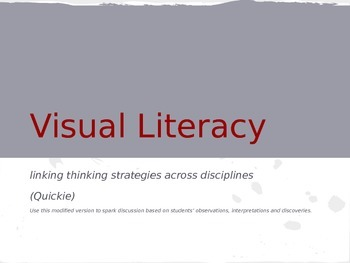 Visual Literacy: Close Reading Informational Text through Art