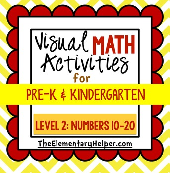 Visual Math Activities {Level 2: 10-20} for Preschool and
