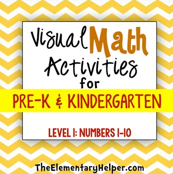 Visual Math Activities {Level 1: 1-10} for Preschool and K