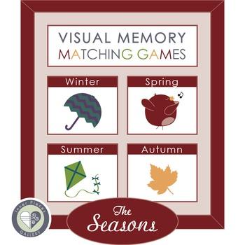 Visual Memory Matching Games THE SEASONS