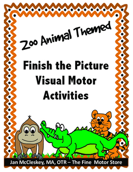 Visual Motor:  Finish the Picture Drawing and Grid Skills