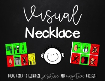 Visual Necklace - Perfect for Autism Classroom, Paraprofes