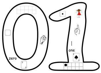 Visual Number Set 0-10