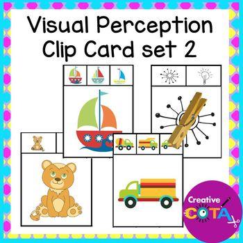Visual Perceptual clip cards Set 2