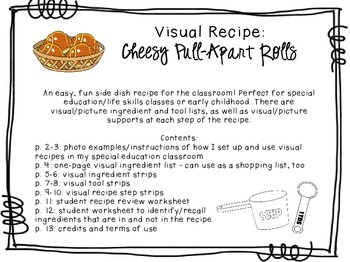 Visual Recipe for the Special Ed Classroom - Cheesy Pull-A