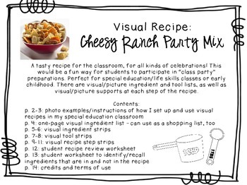 Visual Recipe for the Special Ed Classroom - Cheesy Ranch
