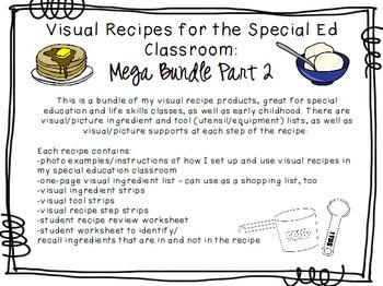 Visual Recipes for the Special Ed Classroom: Mega Bundle Part 2!
