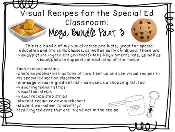 Visual Recipes for the Special Ed Classroom: Mega Bundle Part 3!
