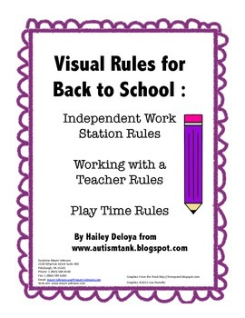 Visual Rules for Back to School