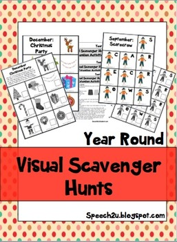 Visual Scavenger Hunts: Eye contact, Joint Attention, Rein