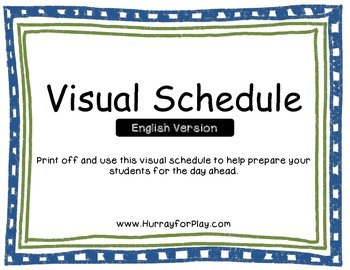 Visual Schedule (English)