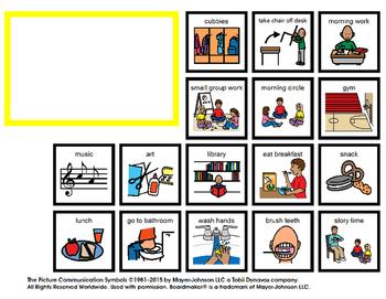 Visual Schedule for School plus BONUS token economy chart!