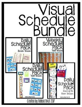 Visual Schedules Discounted Bundled Pack for Autism Program