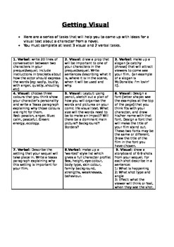 Visual Tasks for a Novel Study