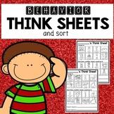 Visual Think Sheet- Behavior Reflection