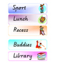 Visual Timetable / Classroom schedule printable PDF version