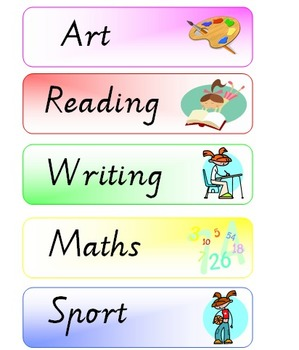 Visual Timetable / Classroom Schedule printables