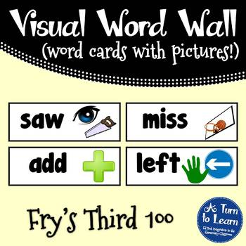 Visual Word Wall Cards: Fry's Third 100 Words