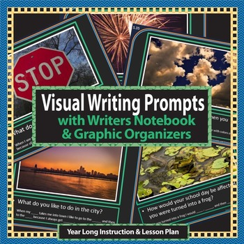 Writing Prompts for K, 1st, & 2nd grade with photos, noteb