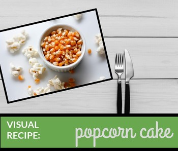 Visual recipe: popcorn cake