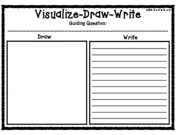 Visualize-Draw-Write Strategy Graphic Organizer with Guidi