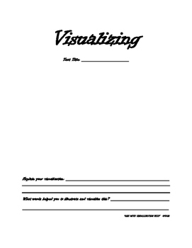 Visualizing Comprehension Strategy Graphic Organizer