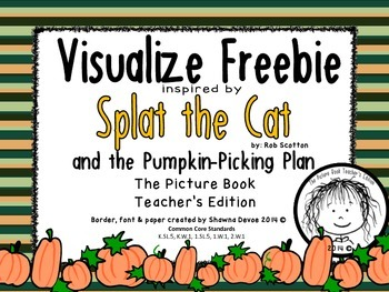 Visualizing Freebie inspired by Splat the Cat and The Pump