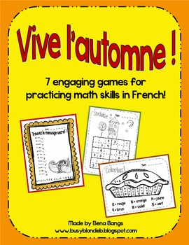 {Vive l'automne!} 7 Engaging Games for Practicing Math Ski
