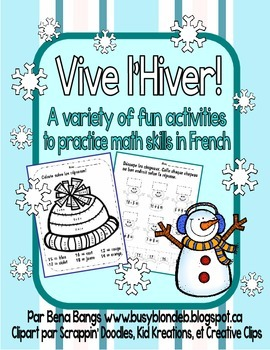 {Vive l'hiver!} Fun math activities for Immersion or Core French