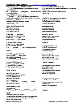 Vivir mi vida - Marc Anthony - SER, def / indefinite artic
