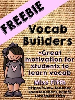 Vocab Builders- (K-8) Increase Vocabulary Motivation in Yo