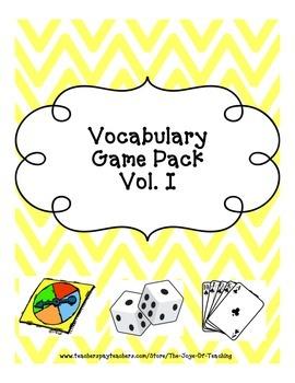 Vocab Game Pack Vol. I