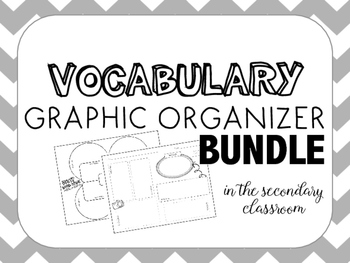 Vocab Graphic Organizer Bundle