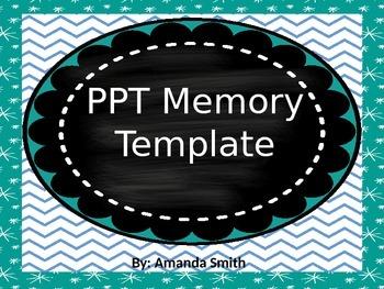 Vocab Memory PPT template