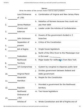 Vocab Quiz Constitution