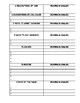 Vocab Review: The List Packet