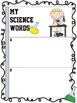 Vocabulary Sheets & Word Lists ~ Interactive Science Noteb
