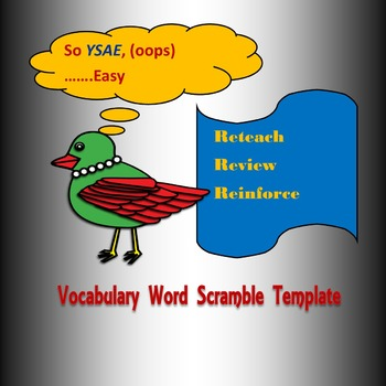 Vocabuary Word Scramble PowerPoint Template